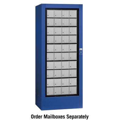 3100 Series USPS Aluminum Style Rotary Mail Center in Blue