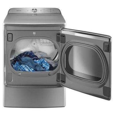 9.2 cu. ft. 240 Volt Metallic Slate Electric Vented Dryer with Extra Moisture Sensor, ENERGY STAR