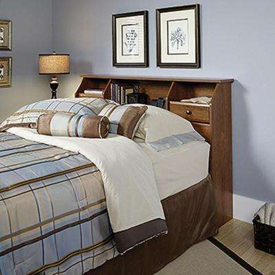 Shoal Creek Collection Oiled Oak Full and Queen-size Bookcase Headboard