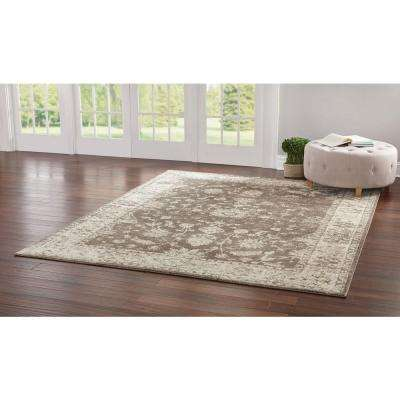 Old Treasures Brown/Cream 5 ft. x 7 ft. Area Rug