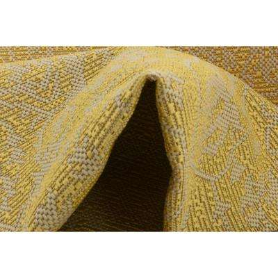 Outdoor Allover Yellow 4' 0 x 6' 0 Area Rug