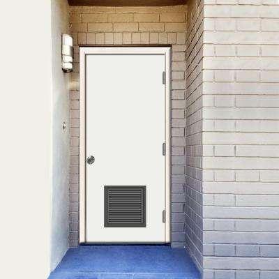 Premium Vented Flush Primed Steel Prehung Front Door