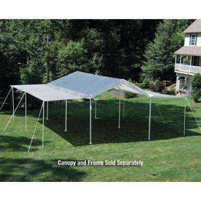 10 ft. W x 20 ft. D Extension Kit for White Canopy (Frame and Canopy Sold Separately - Fits 1 3/8 and 2 in. Frame)