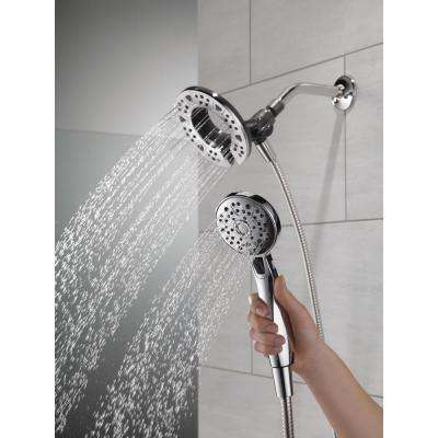 In2ition Two-in-One 4-Spray 6 in. Dual Wall Mount Fixed and Handheld Shower Head in Chrome