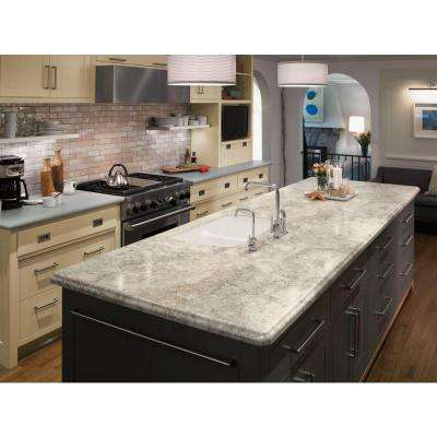 5 in. x 7 in. Laminate Countertop Sample in 180fx Crema Mascarello with Radiance Finish