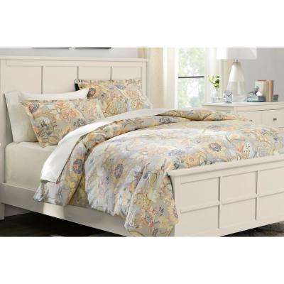 Tadhurst 3-Piece Floral Reversible Duvet Cover Set