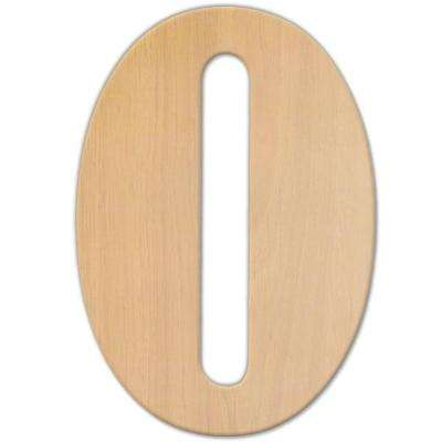 15 in. Oversized Unfinished Wood Letter (O)