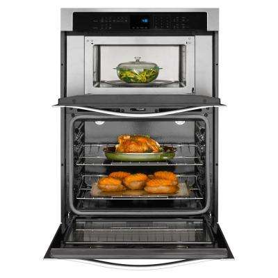 27 in. Electric Wall Oven with Built-In Microwave in Stainless Steel