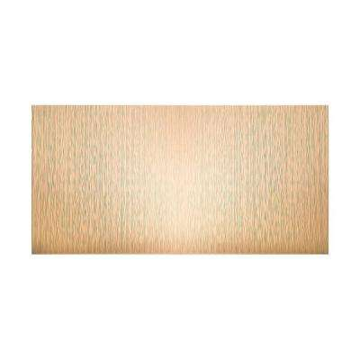 Ripple Vertical 96 in. x 48 in. Decorative Wall Panel in Bisque