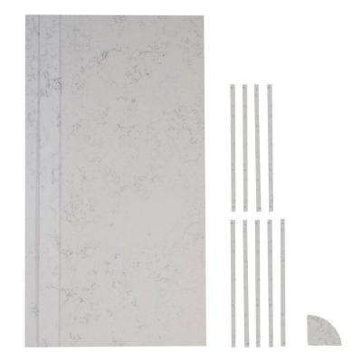 36 in. x 36 in. x 84 in. 13-piece Retro Fit Over Existing Shower Surround in Worthington White