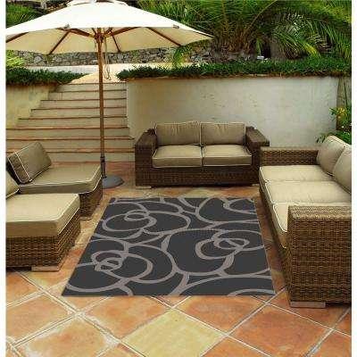 Veranda Silver 3 ft. x 4 ft. Indoor/Outdoor Area Rug