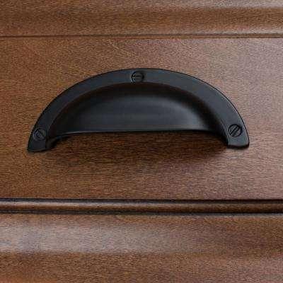 2-1/2 in. Center-to-Center Matte Black Bin Cabinet Pull (10-Pack)