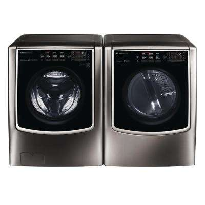 5.8 cu. ft. High-Efficiency Smart Front Load Washer with TurboWash and Steam in Black Stainless Steel, ENERGY STAR