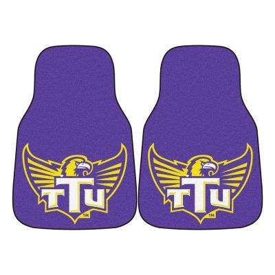 NCAA Tennessee Technological University Heavy Duty 2-Piece 18 in. x 27 in. Nylon Carpet Car Mat