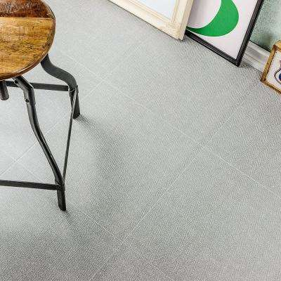 Vaugn Gray 18 in. x 18 in. x 10mm Matte Fabric Look Porcelain Floor and Wall Tile (5-Piece/10.76 sq. ft./Box)