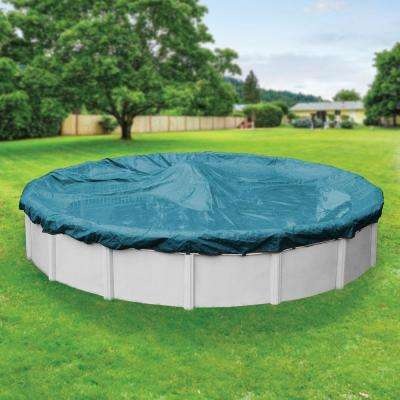 Galaxy Round Teal Blue Winter Pool Cover