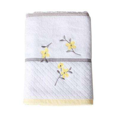 Spring Garden 25 in. W x 50 in. L Cotton Embroidered Bath Towel