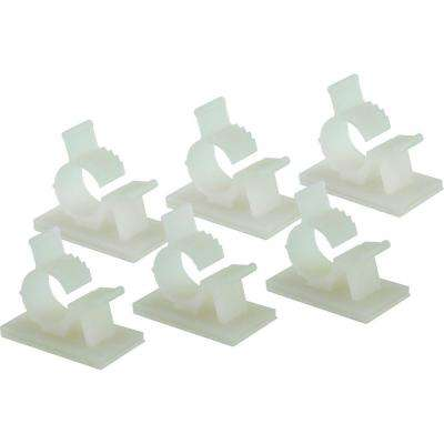 Small Adjustable Cable Clamp, White (6-Pack)