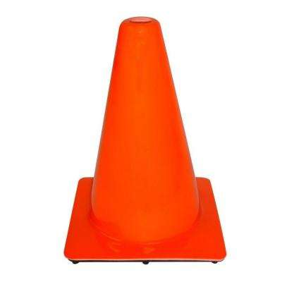 12 in. Orange PVC Non Reflective Safety Cone