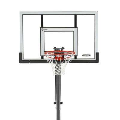 52 in. Steel-Framed Acrylic Portable Basketball System -XL Base with Power Lift