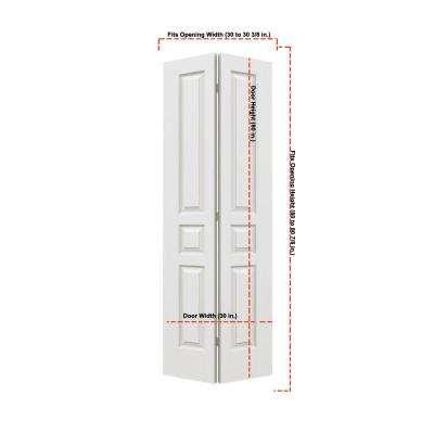 Woodgrain 3-Panel Hollow Core Molded Interior Closet Bi-fold Door