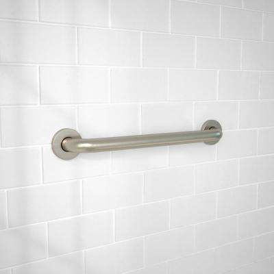 18 in. x 1-1/4 in. Concealed Screw ADA Compliant Grab Bar in Brushed Stainless Steel