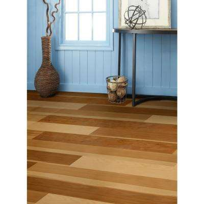 Take Home Sample - Natural Hickory Engineered Waterproof Hardwood Flooring - 5 in. Width x 6 in. Length