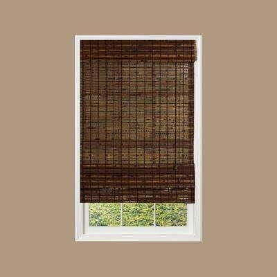 Cocoa Havana Bamboo Roman Shade
