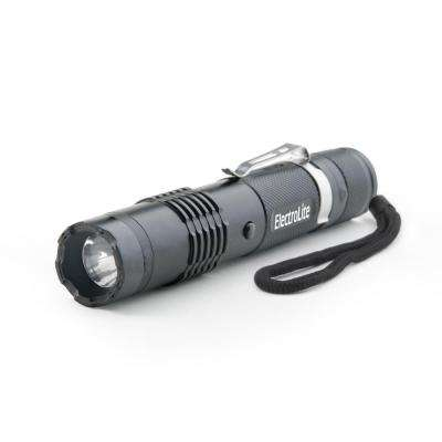 ElectroLite 140 Lumen Compact Tactical Flashlight with Maximum Voltage Stun Gun and Belt Clip
