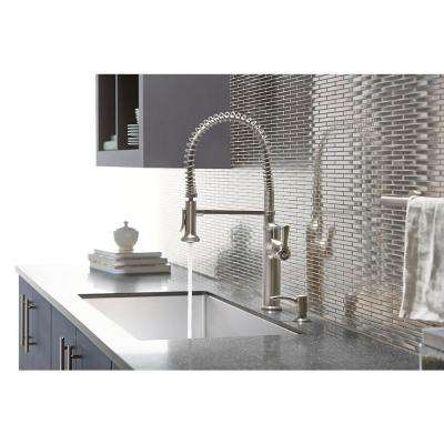 Sous Pro-Style Single-Handle Pull-Down Sprayer Kitchen Faucet in Vibrant Stainless