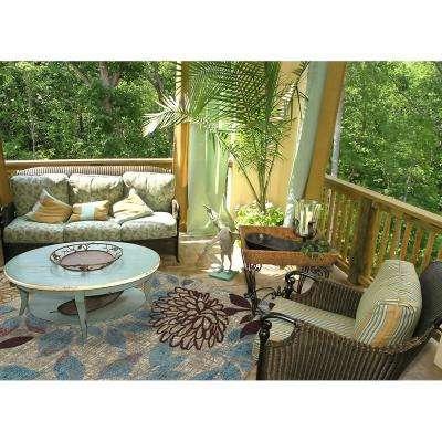 Bella Garden Multi 5 ft. x 8 ft. Printed Outdoor Patio Area Rug