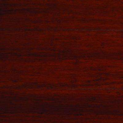 Strand Woven Mahogany 3/8 in. Thick x 5-1/8 in. Wide x 72 in. Length Click Lock Bamboo Flooring (25.75 sq. ft. / case)