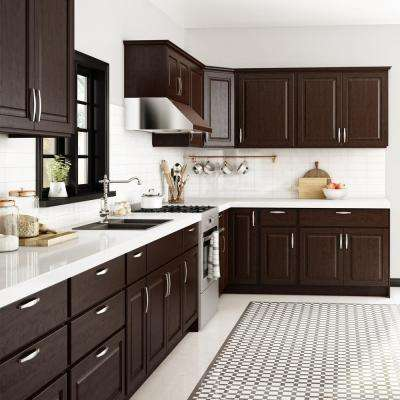 Madison Assembled 30x24x15 in. Wall Deep Cabinet in Espresso