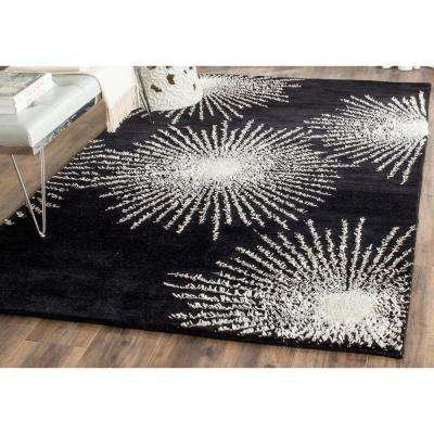 Soho Black/White Wool 5 ft. x 8 ft. Area Rug