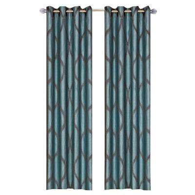 Metallic  Grommet Curtain Panels