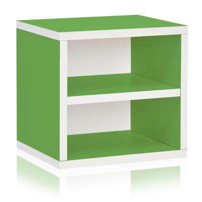 zBoard Eco 13.4 in. W x 13.4 in. H Green Stackable 1-Cube Organizer with Shelf