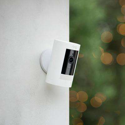 Stick Up Cam Wireless Indoor/Outdoor Standard Security Camera in White