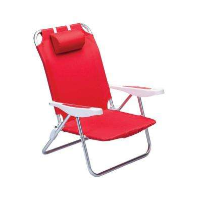 Red Monaco Beach Patio Chair