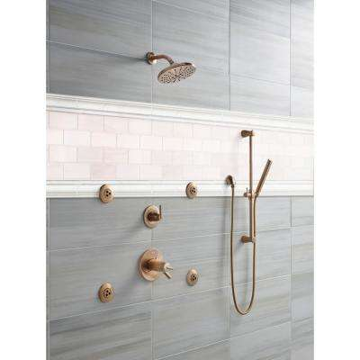 Bianco Dolomite Pencil Molding 3/4 in. x 12 in. Polished Marble Wall Tile (20 lin. ft./case)