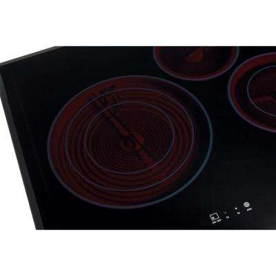 36 in. Smooth Surface Electric Cooktop in Stainless Steel with 5 Elements including Flex-2-Fit Element