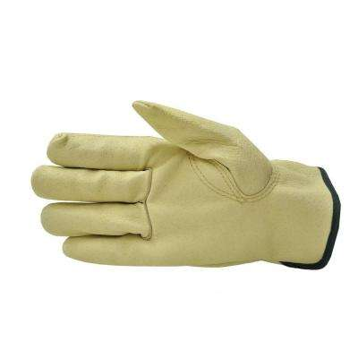 Grain Pigskin Leather Work Gloves (3-Pair)