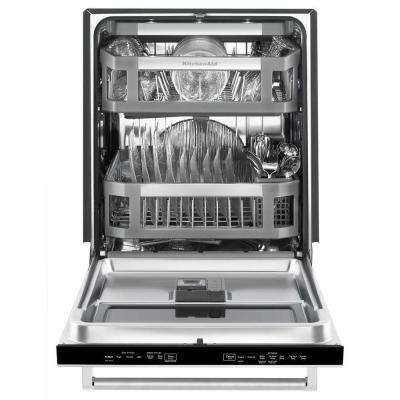 Top Control Dishwasher with Window in Stainless Steel with Stainless Steel Tub