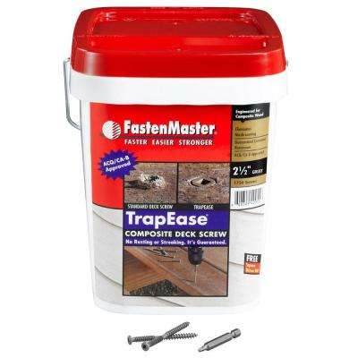 TrapEase 2-1/2 in. Composite Screw Grey - 1750 Pack-DISCONTINUED