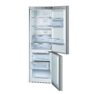 800 Series 24 in. 10 cu. ft. Bottom Freezer Refrigerator in Stainless Steel Glass, Counter Depth
