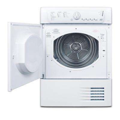 4 cu. ft. Electric Ventless Dryer in White