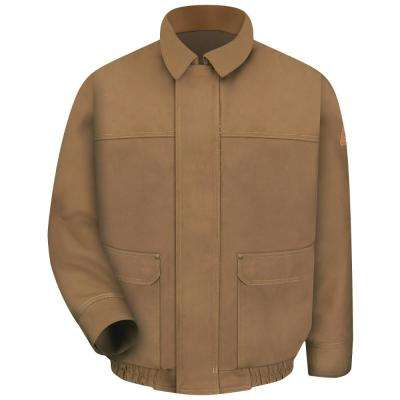 EXCEL FR ComforTouch Men's Brown Duck Brown Duck Lined Bomber Jacket