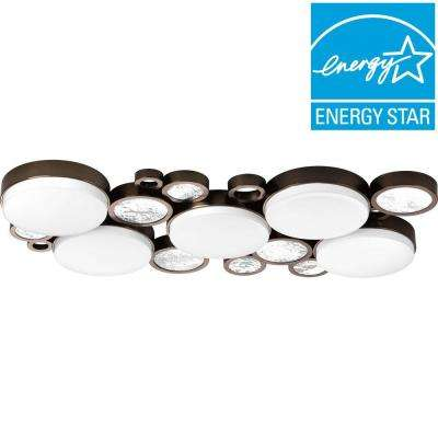 Bingo Collection 5-Light Venetian Bronze LED Flush Mount