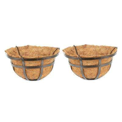 16 in. Coconest/Steel Hanging Basket (2-Pack)-DISCONTINUED