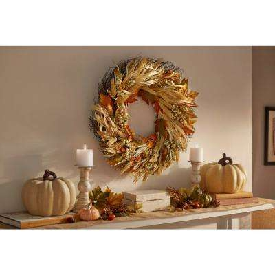 26 in. Harvest Berry and Leaves Wreath
