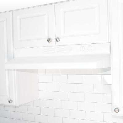 Quiet Zone 36 in. Under Cabinet Convertible Range Hood with Light in White
